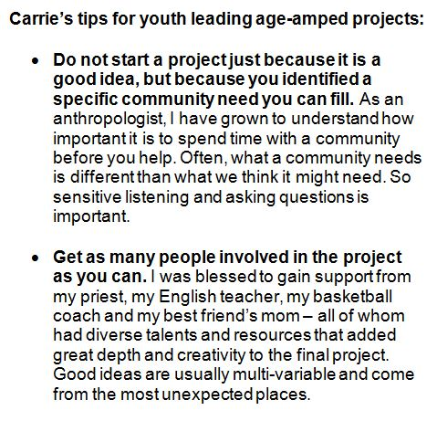 Carrie's tips